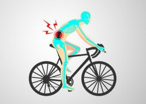 an image showing poor cycling technique can cause injury