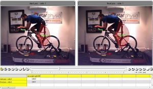 James' knee angles during a Star Physio Bikefit session