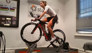 Kate Luckin on an incline during a Star Physio Bikefit session